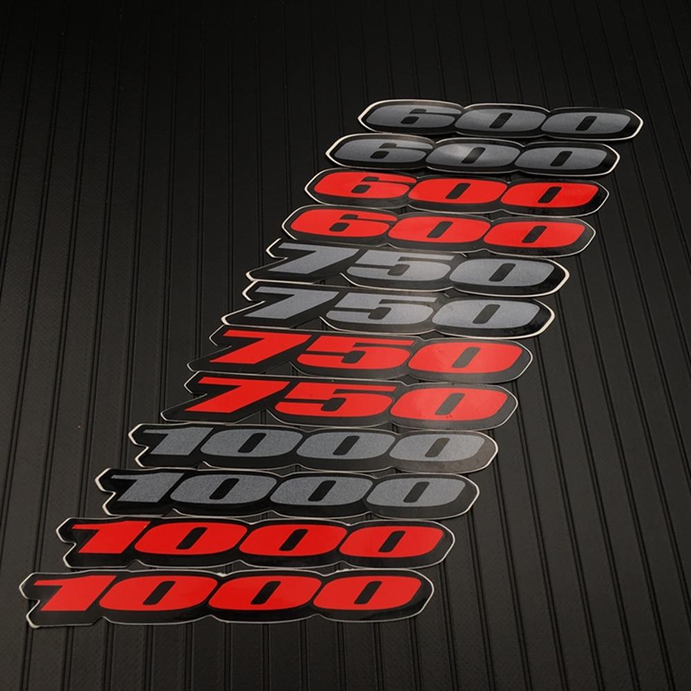 Motorcycle Fairing Tail Sides Sticker Decal Emblem For KTM Honda Suzuki Kawasaki Yamaha BMW For Suzuki 600 750 1000 Accessory