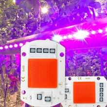 Diodo emissor de luz cresce a luz espectro completo cob led chip ac 110 v 220 v nenhuma necessidade driver phyto lâmpada para a planta interior luz plântula crescer lâmpada