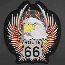 Route 66 Орел поддержки вышивка патч для одежды шляпа сумки гладить на подложке