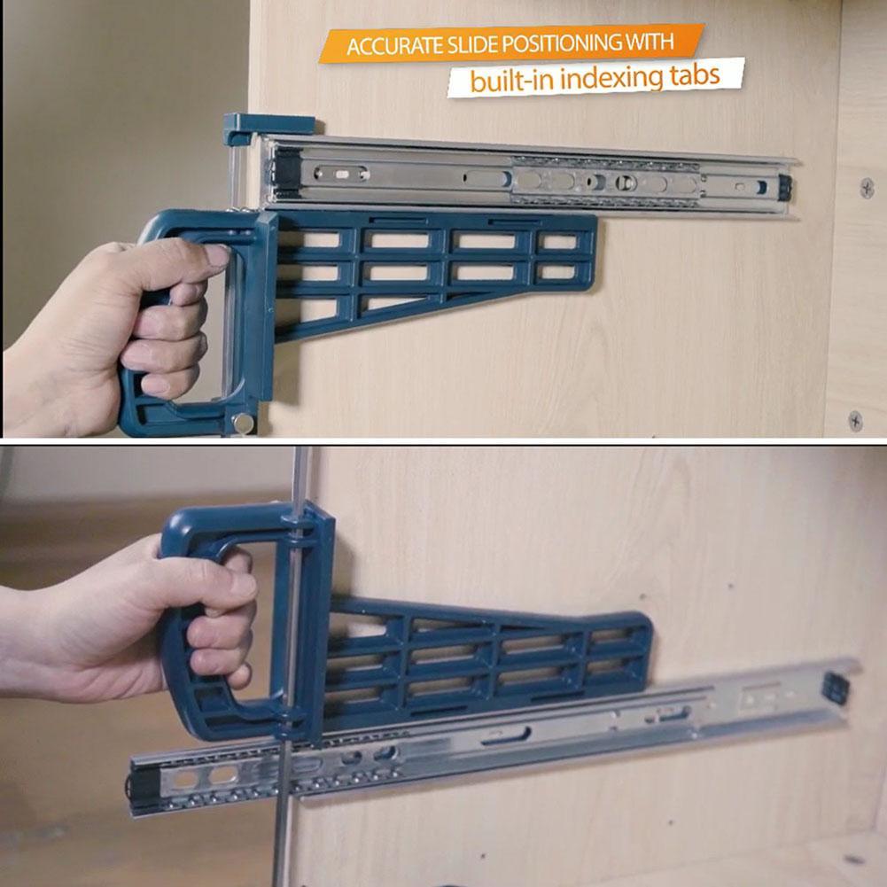 Cabinet Drawer Slide Jig Track Installation Jig Auxiliary Positioning Holder Woodworking Furniture Slides Installation Tool