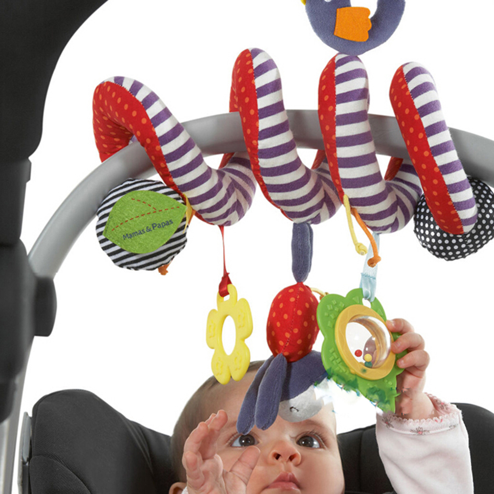 Infant Toys Baby Crib Revolves Around The Stroller Playing Toy Crib Lathe Baby Stroller Hanging Bell Crib Rattle Accesories Baby