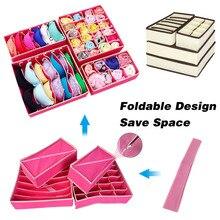 Foldable Home Storage Holder Non-woven Scarfs Socks Bra Organizer Storage Box Dr