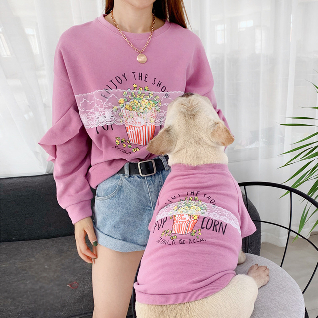 Dog Hoodie matching owner with Warm Lace  My Pet World Store