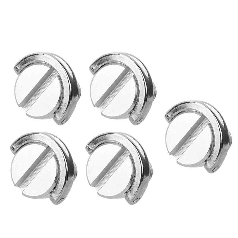 Alta calidad 5 uds 1/4 Cámara tornillo plegable c-ring adaptador para trípode monópode de 1/4 pulgadas Placa de liberación rápida