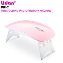 Lidan 6W Nail Dryer LED UV Lamp Micro USB Gel Varnish Curing Machine Nail Art Equipment 6 Lamp Beads For Home Manicure Nail Tool