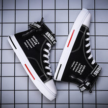 High-top canvas shoes men's autumn hip-hop trendy shoes 2020 new trend all-match Gaobang casual shoes
