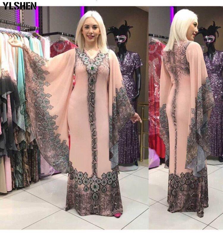 New African Dresses for Women Dashiki Diamond African Clothes Bazin Riche Sexy Slim Ruffle Sleeve Robe Evening Long Africa Dress 02