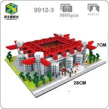 International AC Milan Football Club San Siro Meazza Stadium Model Mini Diamon Building Small Blocks Toy for Children no Box