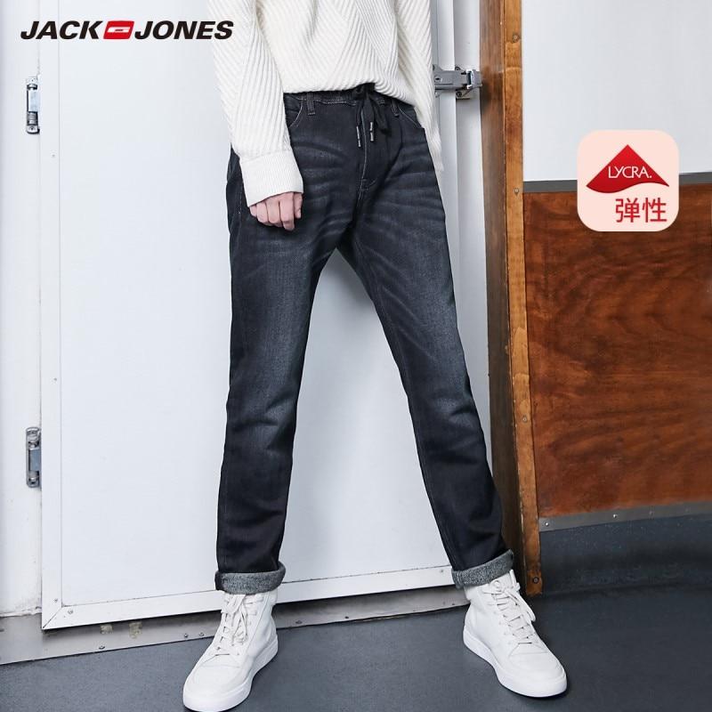 JackJones Men's Winter Cotton Stretch Jeans Warm Denim Pants Menswear 219332586