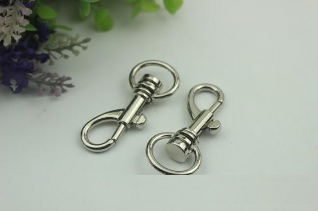 (20 Pieces/lot) Luggage Handbag Hardware Accessories High-grade Bag With Side Ring Hook Link Keychain Metal Accessories