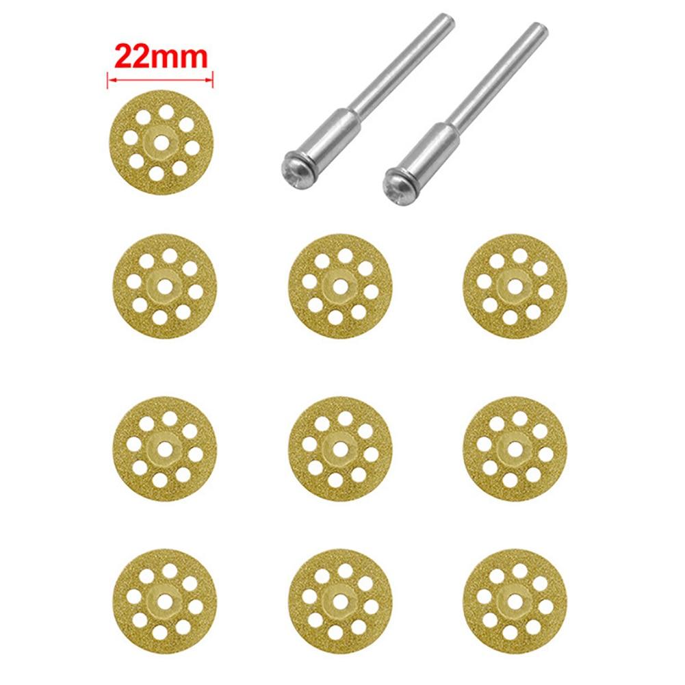 10pcs /set Mini Diamond Grinding Wheel Diamond Discs Circular Cutting Disc Grinding Wheel Saw For Dremel Rotary Tool