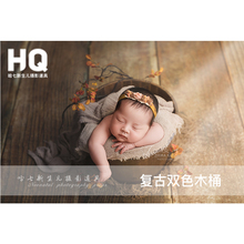 Newborn Photography Props basket Baby Photography Basket Infant wood Photo Studio  Accessories  Children basket