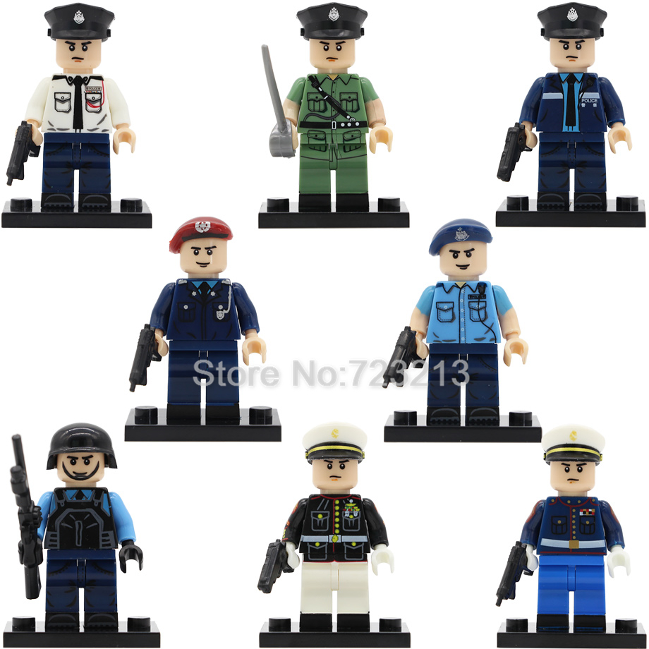 Single Sale HK Macao Policeman SDU Military Figure Movie Police Story City Hero SWAT Building Blocks Model Bricks Toys Legoing