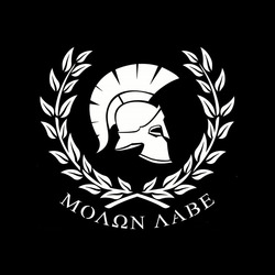 Funny MOLON LABE Warrior Sparta Car Stickers and Decal Bumper Window for Bmw E60 Cover Scratches Accessories KK18cm X 17cm