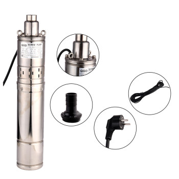 SHYLIYU 4 OD Pipe Deep Well Submersible Screw Pump Lift 86m 370w Stainless Steel Rotary Pump 0.5Hp Irrigation Agricultural Pump qy oil immersed submersible pump 380v agricultural irrigation high lift large flow deep well three phase pump