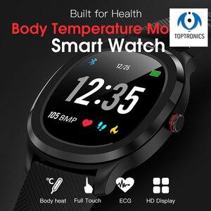 Melhor presente para seus filhos cuidados de saúde temperatura do corpo calor relógio inteligente ip68 à prova dip68 água smartwatch freqüência cardíaca ecg ppg banda inteligente