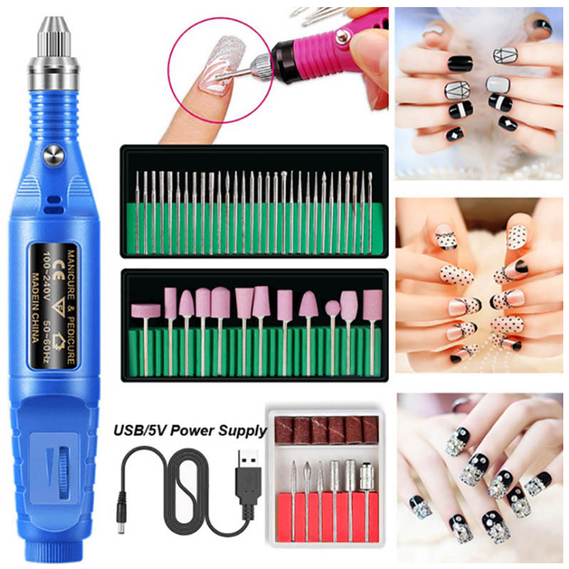 Professional Electric Nail Drill Machine Kit Manicure Machine Nail Art File Nail Pen Pedicure Apparatus Gel Cuticle Remover Tool
