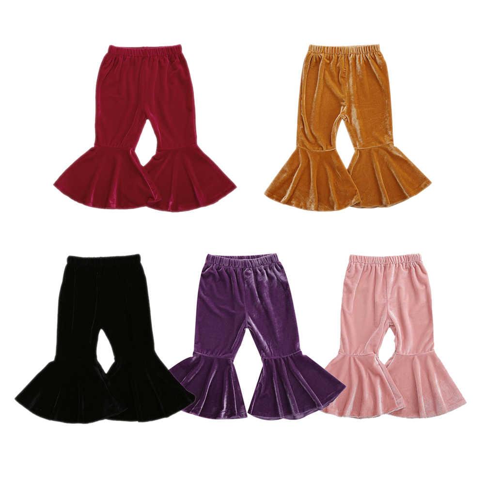 Pantalones Con Volantes Para Bebes Y Ninos De 0 A 6 Anos Ropa De Terciopelo De Color Solido Para Mantener El Calor En El Invierno Y La Cintura Alta Para Otono Pantalones Aliexpress