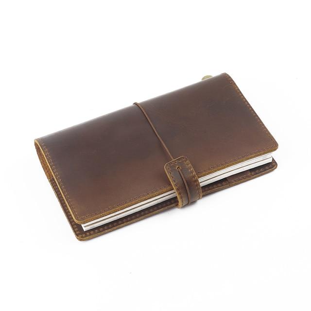 100% جلد طبيعي دفتر حجم الشخصية اليدوية دفتر يوميات متعددة الوظائف دفتر الرسم مخطط القرطاسية عالية الجودة