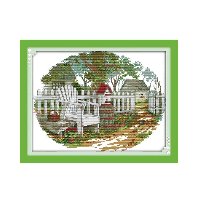 Casa de campo (2) kit ponto cruz paisagape18ct 14ct 11ct contagem impressa costura em tela bordado diy bordado artesanal