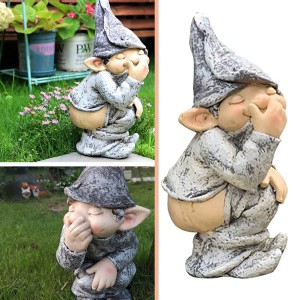 Funny Resin Figurines Naughty Garden Gnome Garden Decoration Statue Gnome Decoration Villa Home Figurines Decoartion#YL10