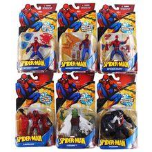 13-15cm 6 stili supereroi Marvel Spiderman Venom Carnage lucertola PVC Action Figure giocattoli da collezione modello