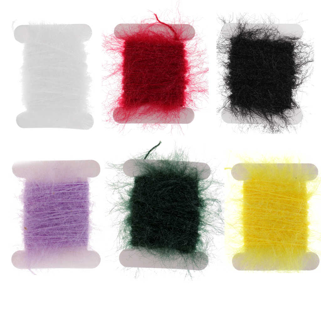 5m Fly Fishing Tinsel Chenille Crystal Flash Line Nymph Streamers Lure Making Fly Tying Materials