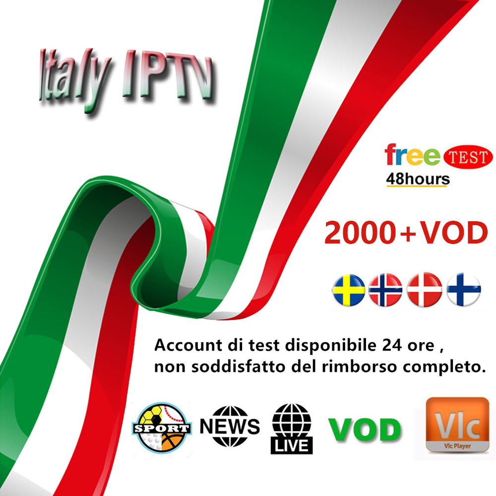 Italy IPTV Subscription 6000+Live Super Italia Germany Italian Albania Turkey adult for M3U Android Smart TV Box Free test