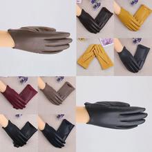 Женские замшевые перчатки с плюшевой подкладкой однотонные ветрозащитные