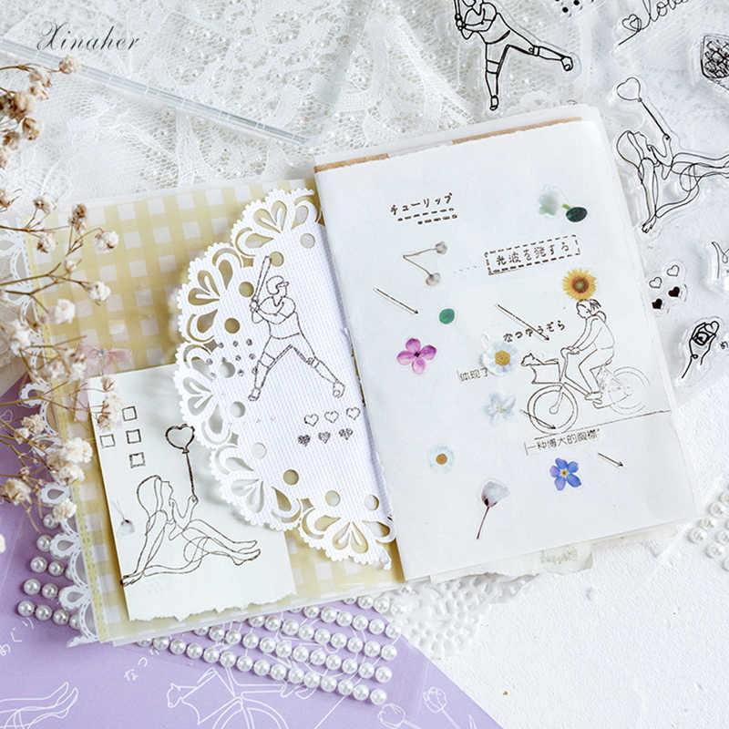 Stars Clear Silicone Stamp-Card Making transparent star stamps-LayeringBackgroundStarlightMultimedia scrapbookingplanner