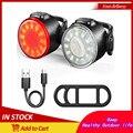 Мини светодиодный задний фонарь для велосипеда с возможностью светильник с возможностью зарядки по Usb велосипед Задние огни светильник s IPX6...