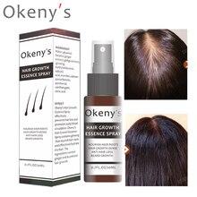 Увлажняющий спрей для роста волос Okeny's, 20 мл, сыворотка для восстановления хлеба и масла для мужчин и женщин, против выпадения волос, предотв...