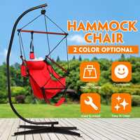 150kg/330lb Hammocks with C stand swing chair Garden Swing Outdoor Indoor Furniture Hanging Chair hammock Oxford Cloth Chairs