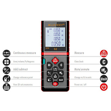 купить Laser Rangefinder Digital Laser Distance Meter 40M 60m 80m 100m Battery-powered Laser Range Finder Tape Distance Measurer Tester по цене 1435.49 рублей