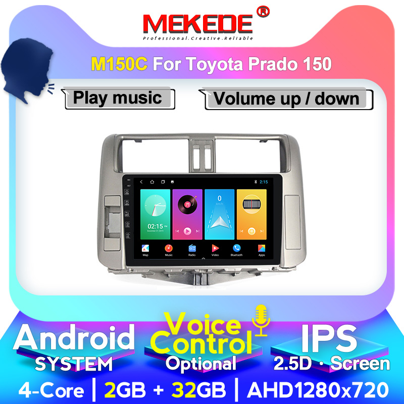 MEKEDE Octa Core 4G RAM <font><b>Car</b></font> <font><b>radio</b></font> <font><b>for</b></font> <font><b>Toyota</b></font> Land Cruiser <font><b>Prado</b></font> <font><b>150</b></font> 2009-2013 <font><b>Car</b></font> GPS <font><b>radio</b></font> wifi cassette image