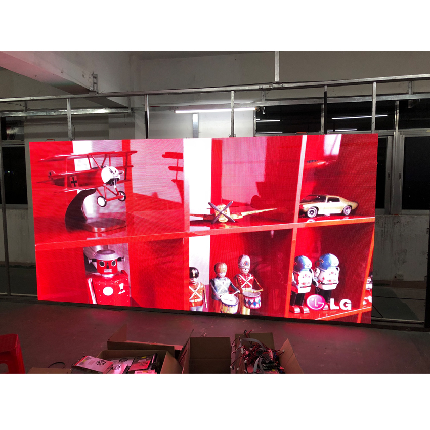 128×128dots Full Color LED Pantalla Die Casting Aluminum 500×500mm Cabinet Rental P3.91 SMD2121 Indoor RGB LED Billboard Screen