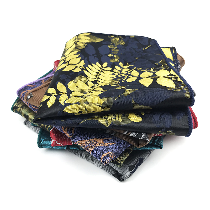 High Quality 100% Polyester Woven Handkerchief Wedding Business Pocket Squares For Men Matching Necktie Bowtie Available