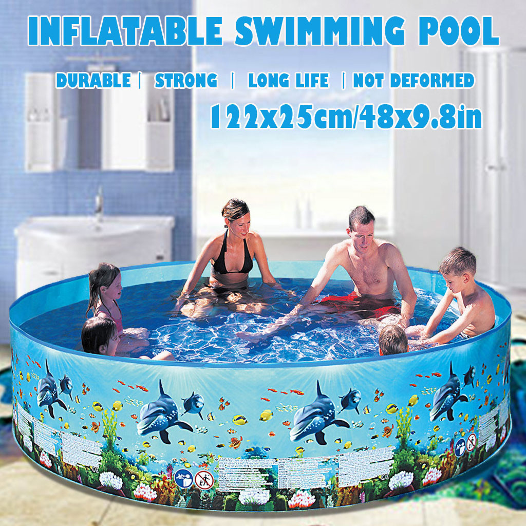 72/59/48 Inches Children's Swimming Pool Blow Up Pool For Family Kids Backyard Foldable Summer Toys