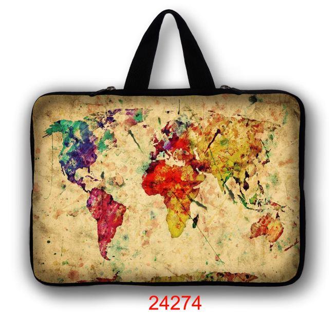 World Map 11 12 13 14 Inch Laptop Bag Waterproof For Men Women Laptop Sleeve Case 13.3 15.6 17 Computer Notebook Macbook Bag 15