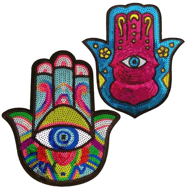 Parches de lentejuelas para la mano, insignias para ropa de parches bordada, insignias para la mochila, planchado, venta al por mayor 1