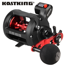 KastKing ReKon Carbon Fiber Drag Washer Line Counter Trolling Fishing Reel Round Baitcasting Reel  3+1 BBS Drum Fishing Reel