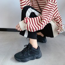 Купить с кэшбэком freeshipping2019 Winter  sneakers women Korean wild  casual sports Trend Fashion lacing Low help white shoes flats