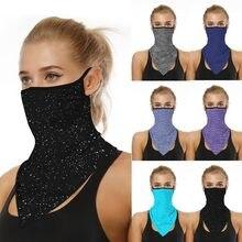 Ağız kadın maskesi hafif yüz maskesi eşarp güneş maskesi açık maskeleri koruyucu ipek eşarp bandana mendil cadılar bayramı cosplay