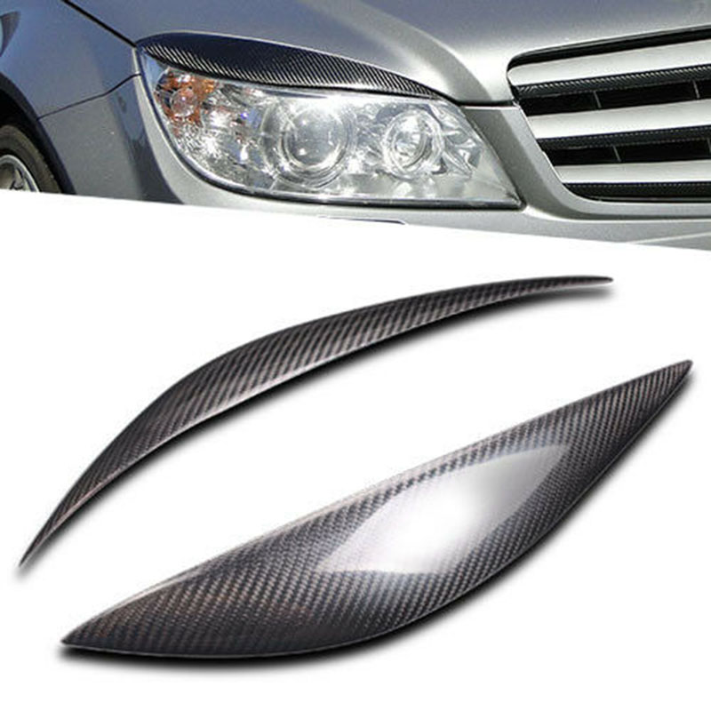 Carbon Fiber Eyebrow Eyelid for <font><b>Mercedes</b></font> <font><b>Benz</b></font> W204 C180 C200 <font><b>C300</b></font> C350 C63 08-11 image