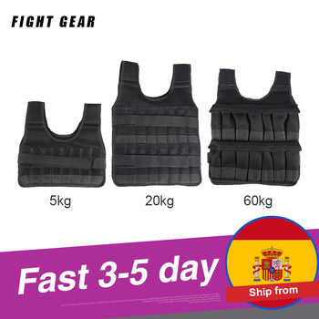 5-60KG Loading Weight Vest for Boxing Weight Training Workout Fitness Gym Equipment Adjustable Waistcoat Jacket Sand Clothing 1