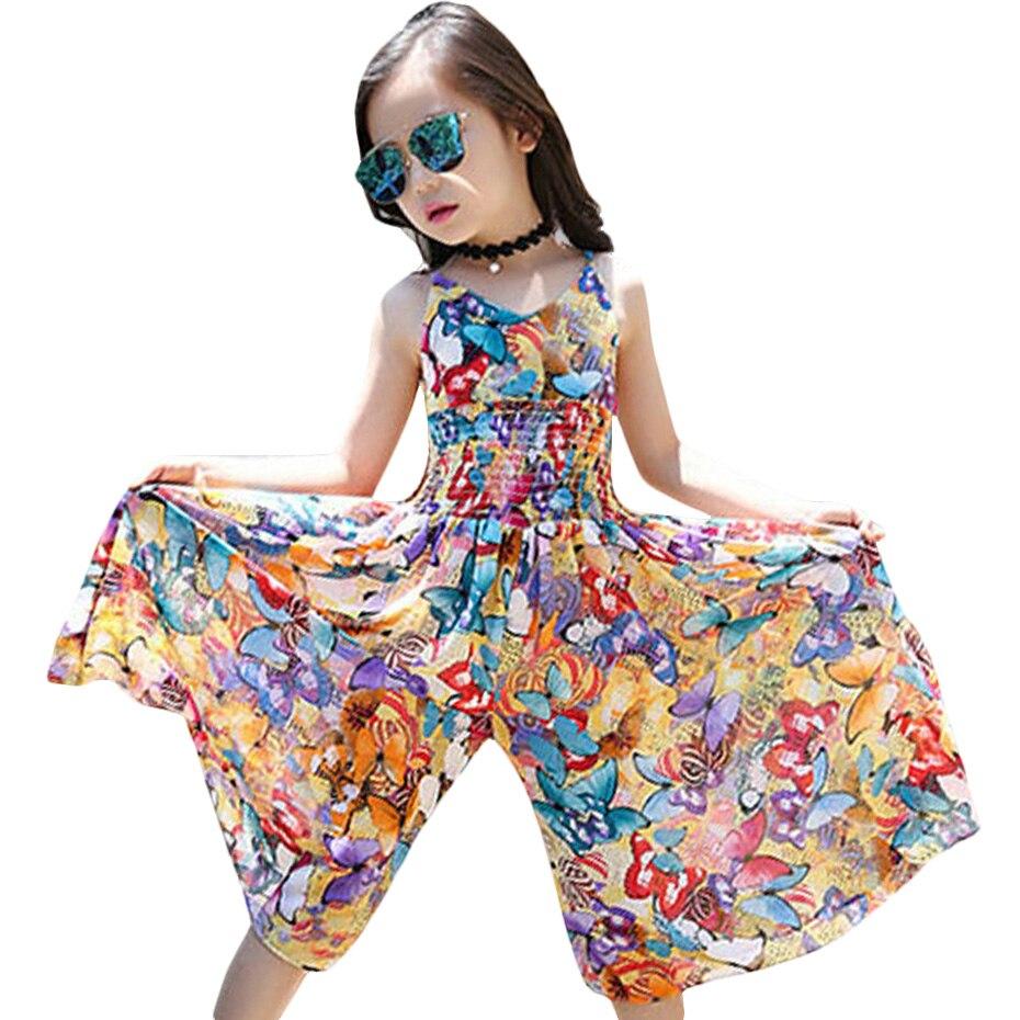 Новинка 2020, Брендовые платья для девочек, детские платья в богемном стиле, летние праздничные Платья с цветочным рисунком для девочек 6, 8, 12 л...