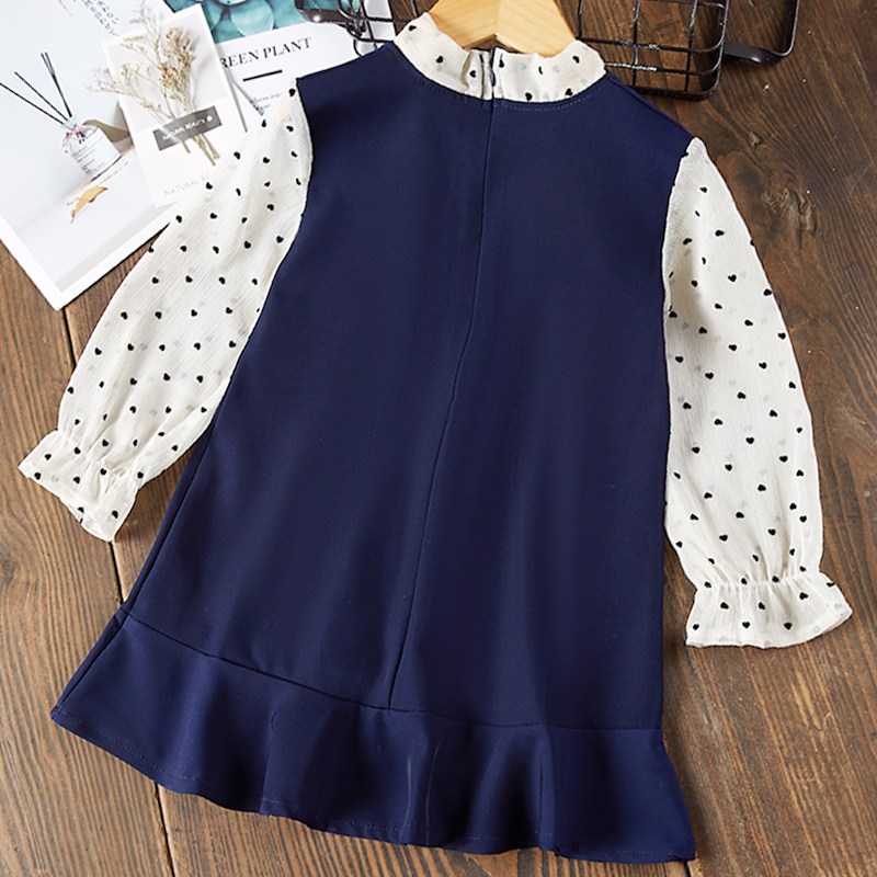 H7ae721458eba4ca7a9c6c53b250f8b600 Bear Leader Girls Dress 2019 New Autumn Casual Ruffles A-Line Striped Full Sleeve Kids Dress For 3T-7T
