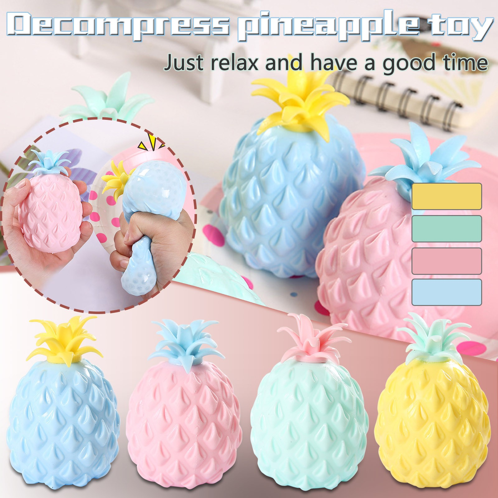 2021 Fidget Toys New Simulation Flour Pineapple Decompression Toy Office Pressure Release