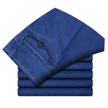 Размер 30-45, мужские деловые джинсы, Классические мужские дешевые джинсы размера плюс, мешковатые прямые мужские джинсовые штаны, хлопковые Синие Рабочие джинсы для мужчин