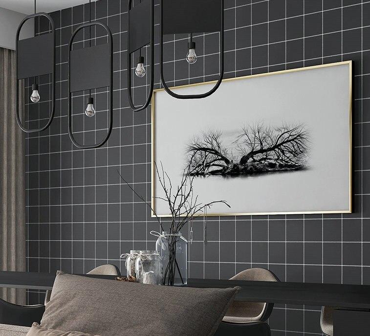 Papier peint Simple moderne gris Simple chambre salon papier peint auto-adhésif